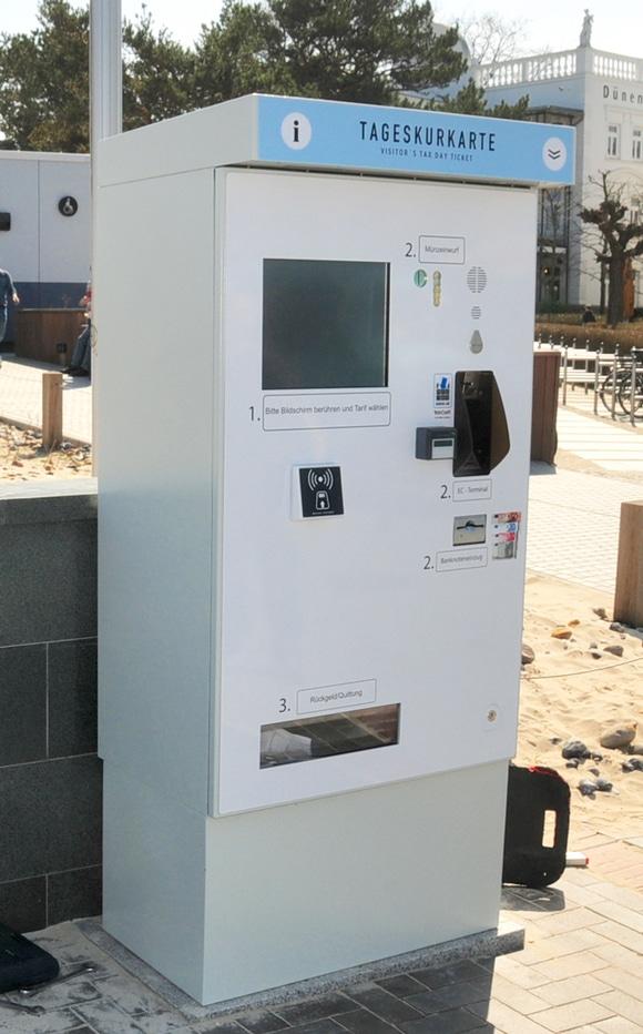 Foto: Tageskurkartenautomat (Kurverwaltung Binz)