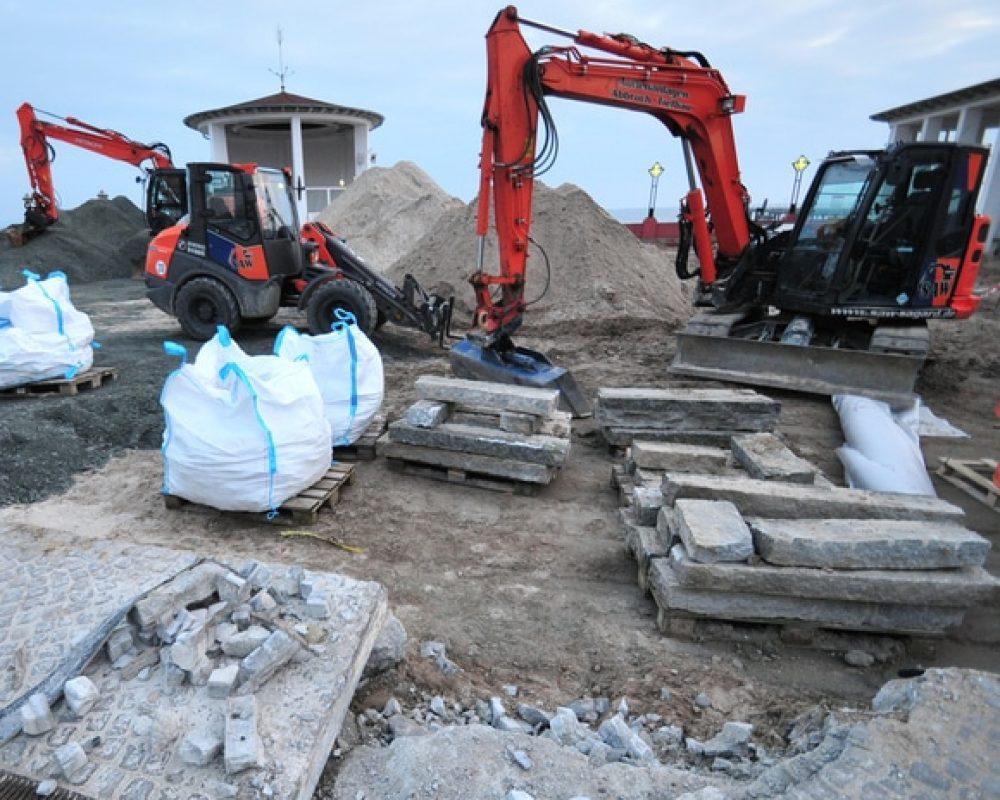 Bauarbeiten auf dem Kurplatz (Kurverwaltung Binz)